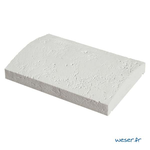 Chaperon Tradition Vieille pierre Arrondi - largeur 33 cm - Coloris Blanc Tradition