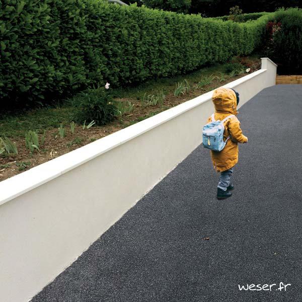 Chaperon de mur Pierre Lisse Plat - 1 mètre - largeur 30 cm - Coloris Blanc Tradition