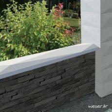 Chaperon OPTIPOSE® Trigone 1 mètre WESER - largeur 30cm - Coloris Ton pierre