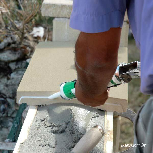 Application du joint acrylique sur les Couvre-murs OPTIPOSE® WESER