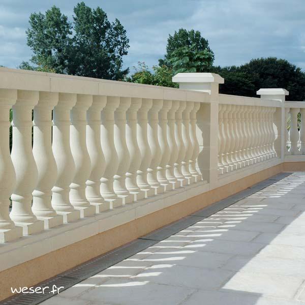 Balustrade Pornic Weser - Coloris Blanc Albâtre