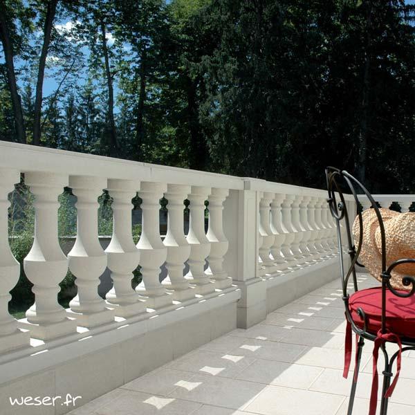 Balustrade Royan Weser - Coloris Blanc Albâtre