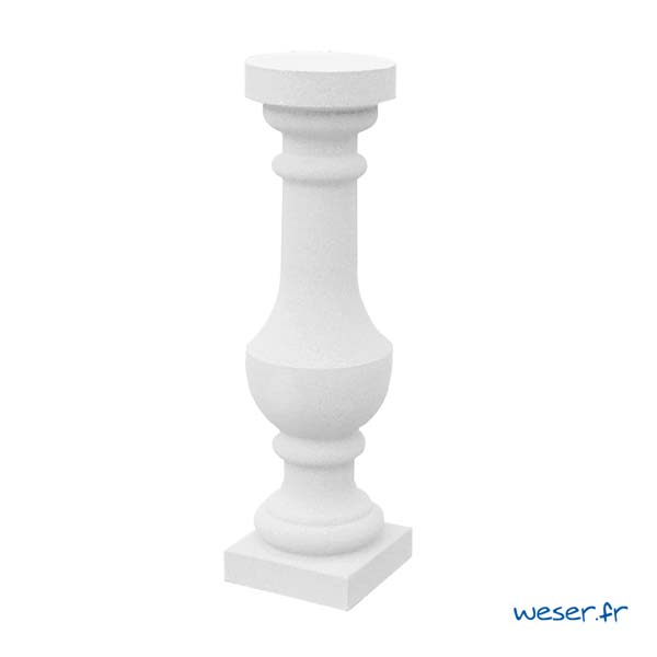 Balustre Royan 59 Weser - Albâtre (Blanc)