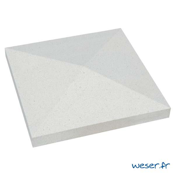 Chapeau de pilier Pointe-de-Diamant - largeur 40 - Blanc cassé