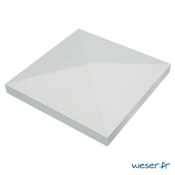 Chapeau de pilier Pointe-de-Diamant - largeur 50 - Blanc cassé