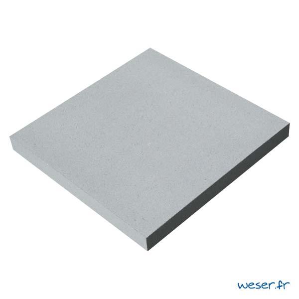 Chapeau Plat pour pilier de clôture - largeur 40 - Gris