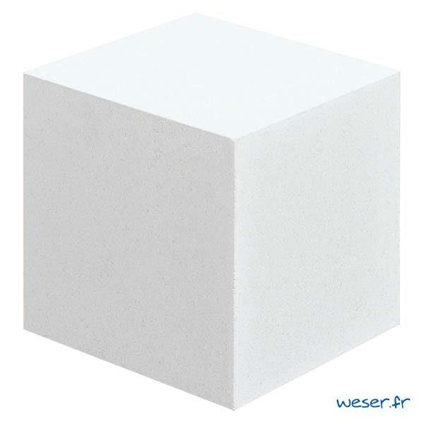 Cube pour balustrade en escalier Weser - Albâtre (Blanc)