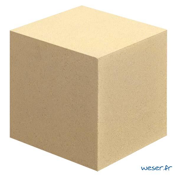 Cube pour balustrade en escalier Weser - Sahara (Jaune Ton pierre)