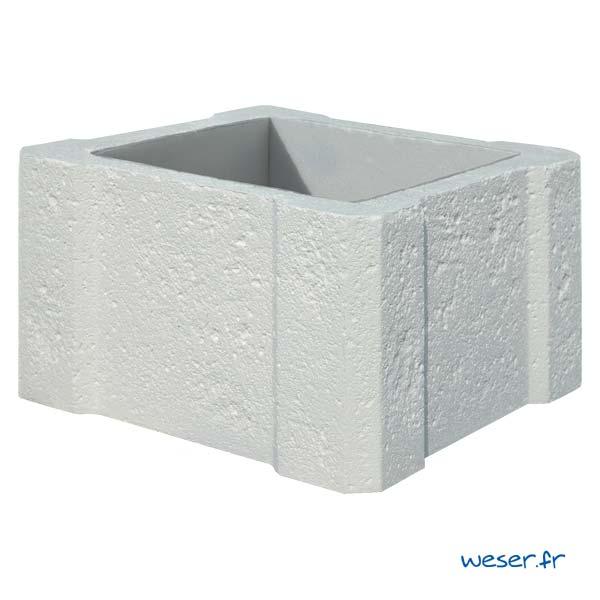 Élément de pilier de clôture ou portail Chambord WESER - Blanc tradition