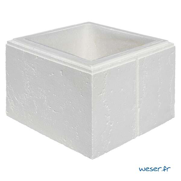 Élément de pilier Amboise avec film compressible intégré - Coloris Blanc Tradition