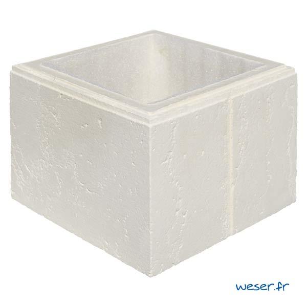 Élément de pilier Amboise avec film compressible intégré - Coloris Crème