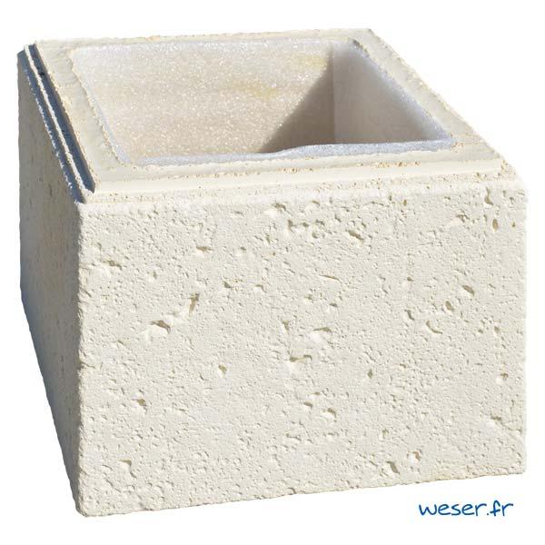 Élément de pilier de clôture ou de portail Chaumont WESER - Crème