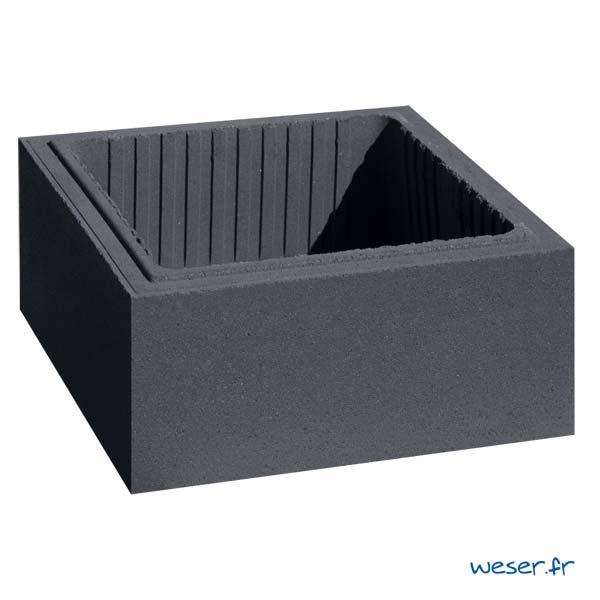 Élément de pilier de clôture ou de portail Platinum Weser - largeur 39 cm - Dark
