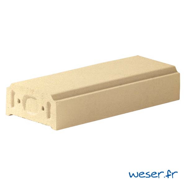 Lisse - Main courante pour balustrade Weser - hauteur 10 cm - Sahara (Jaune Ton pierre)