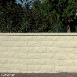 Muret de clôture Bosselé Weser - Ton pierre