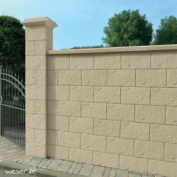 Muret de clôture Cheverny Weser - Crème