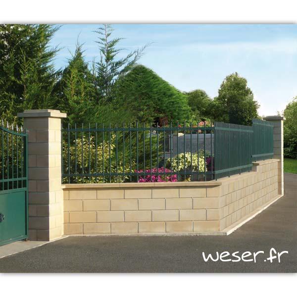Muret de clôture Lisse Weser - Ton pierre