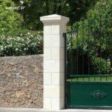 Pilier de clôture et portail Amboise avec joints - Coloris Crème