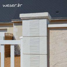 Pilier de clôture et de portail Camargue Weser - Blanc Tradition