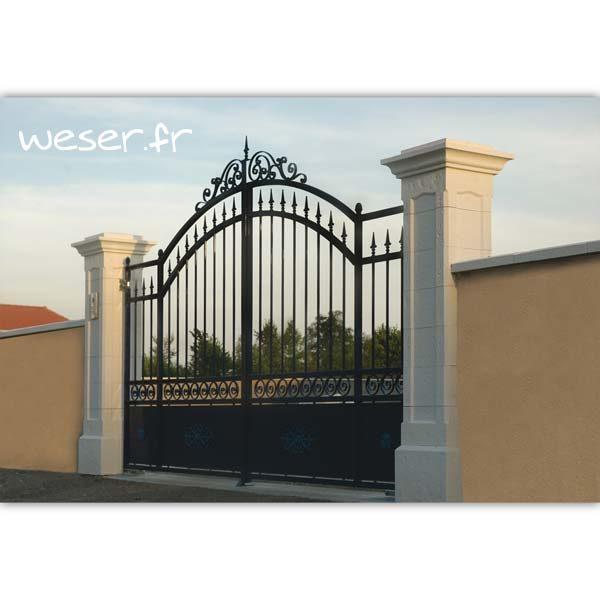 Pilier de clôture et de portail Chambord Weser - Crème