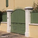 Pilier de clôture et de portail Chambord Weser - Blanc tradition