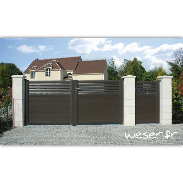 Pilier de clôture et de portail Chaumont Weser - Blanc tradition