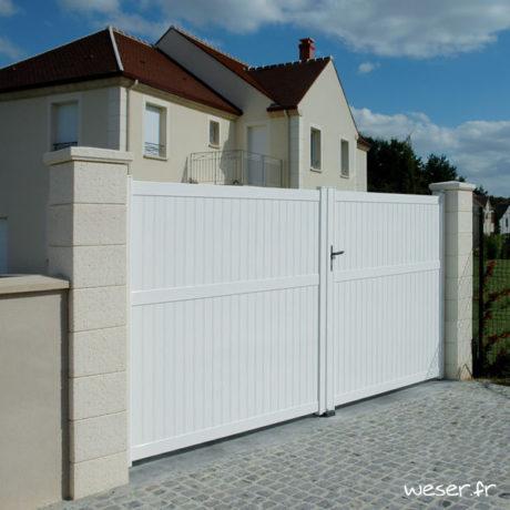Pilier de clôture et de portail Chaumont Weser - Crème