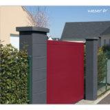 Pilier de clôture ou de portail Ovalis Weser - largeur 28/38 cm - Dark