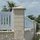 Pilier de clôture ou de portail Lisse Weser - Largeur 38 cm - Ton pierre