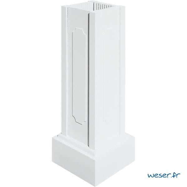 Trumeau avec embase pour balustres hauteur 73 cm WESER - Albâtre (Blanc)