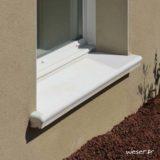 Appui de fenêtre Accordance largeur 34 cm Weser - en pierre reconstituée coulée - Coloris Blanc Tradition