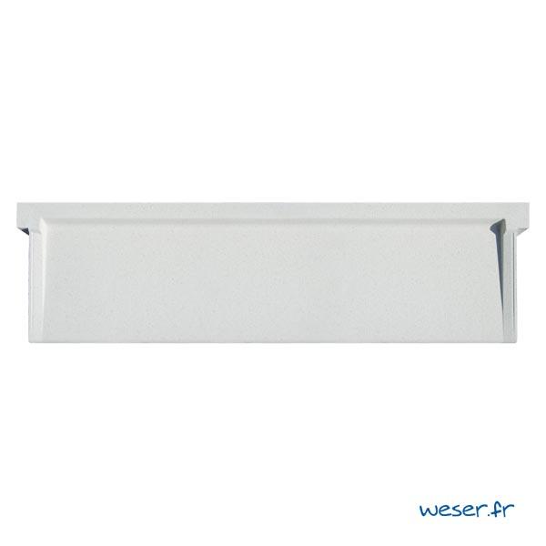 Appui de fenêtre à pose simplifiée largeur 35 cm Weser - en pierre reconstituée compactée - coloris Blanc cassé