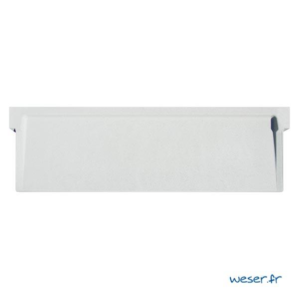 Appui de fenêtre à pose simplifiée SLIM largeur 39 cm Weser - en pierre reconstituée compactée - coloris Blanc Cassé