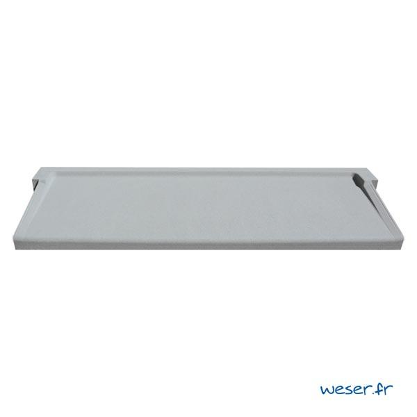 Appui de fenêtre à pose simplifiée largeur 35 cm Weser - en pierre reconstituée compactée - coloris Gris