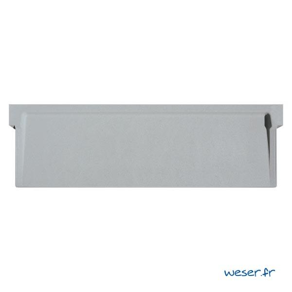 Appui de fenêtre à pose simplifiée SLIM largeur 39 cm Weser - en pierre reconstituée compactée - coloris Gris