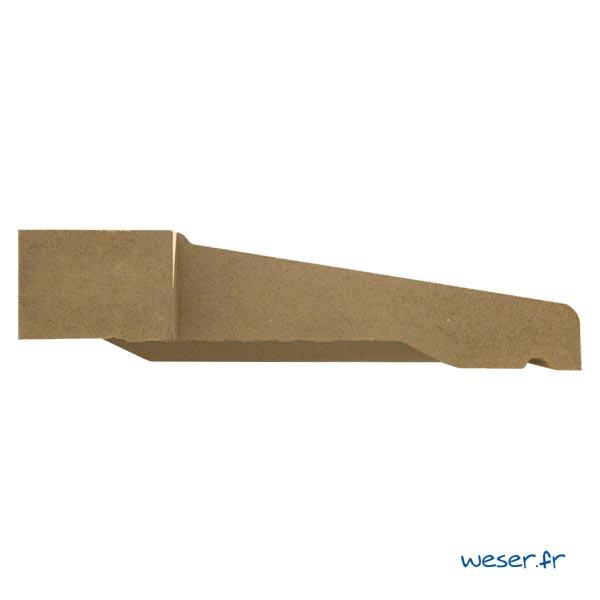 Appui de fenêtre à pose simplifiée SLIM largeur 39 cm Weser - en pierre reconstituée compactée - coloris Ton pierre