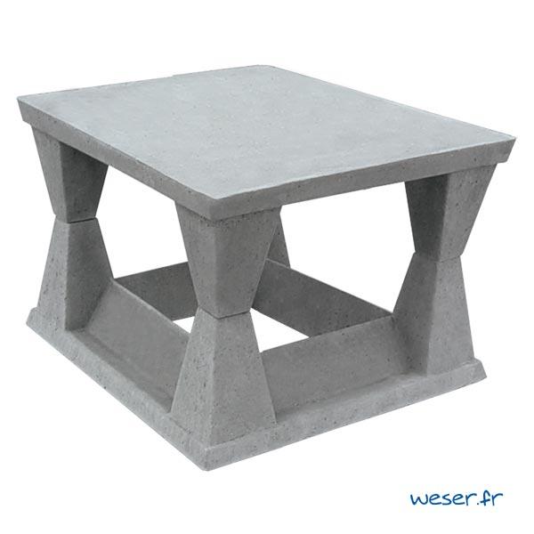 Aspirateur de cheminée en béton 30x30 cm Weser - Coloris Gris