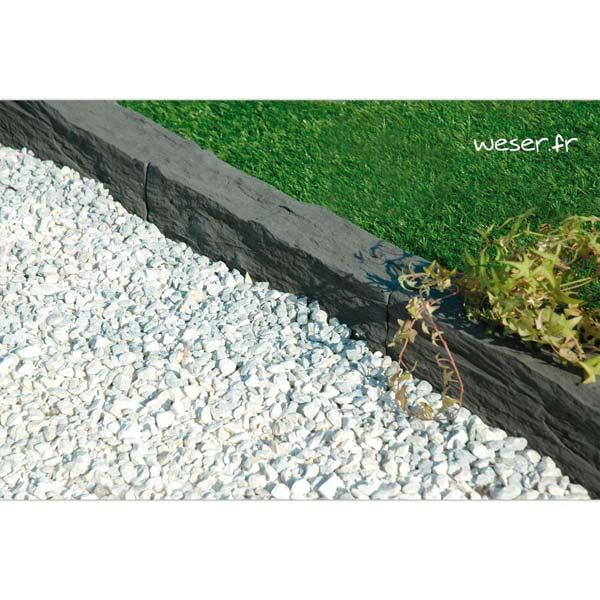 Bordure de jardin Auray Weser - en pierre reconstituée - Gris anthracite