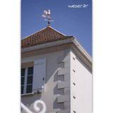 Chaîne d'angle de façade pour pose harpée, Corniche Doucine Weser - en pierre reconstituée compressée - Coloris Blanc Cassé