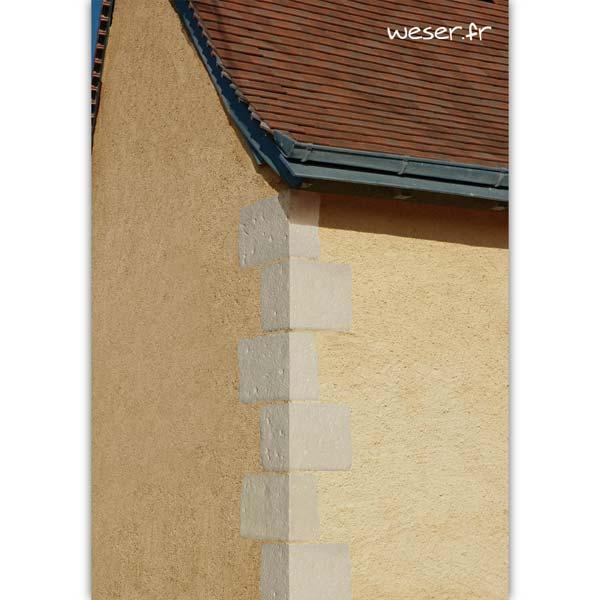 Chaîne d'angle de façade pour pose harpée TRADITION Weser - en pierre reconstituée coulée - Coloris Blanc Tradition