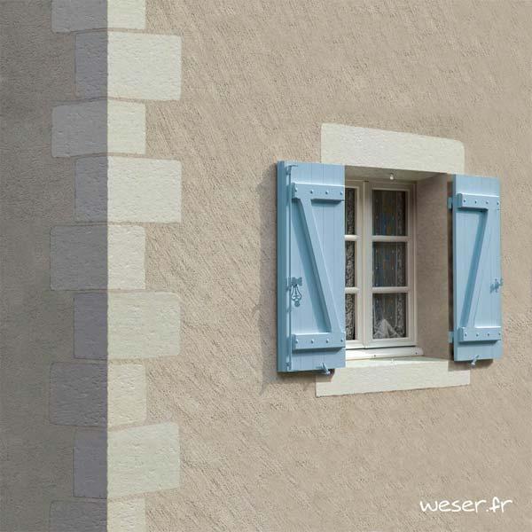 Chaîne d'angle de façade pour pose harpée et Linteau de fenêtre TRADITION Weser - en pierre reconstituée coulée - Coloris Blanc Tradition