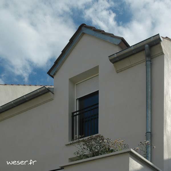 Corniche Concave pour façade Weser - en pierre reconstituée compressée - Coloris Ton pierre