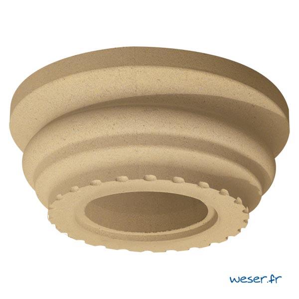 Chapiteau pour colonne Cannelée diamètre 35 cm Weser - en pierre reconstituée compressée - Coloris Ton pierre