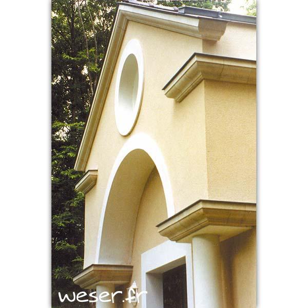 Corniche Doucine pour façade Weser - en pierre reconstituée compressée - Coloris Ton pierre