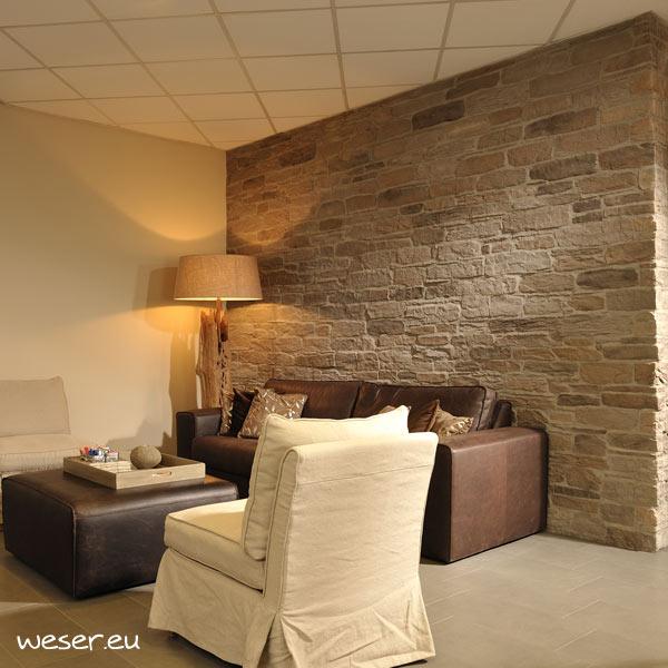 Plaquettes de Parements muraux De Cry By Weser - Modèle Sierra Couleur M43 Brun nuancé