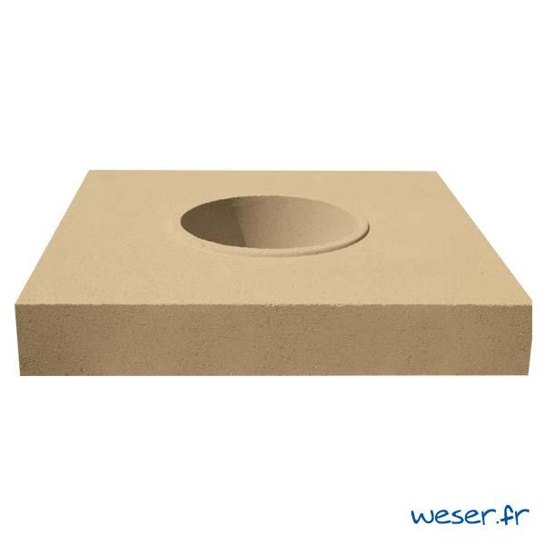 Embase pour colonne diamètre 35 cm Weser - en pierre reconstituée compactée - Coloris Ton pierre