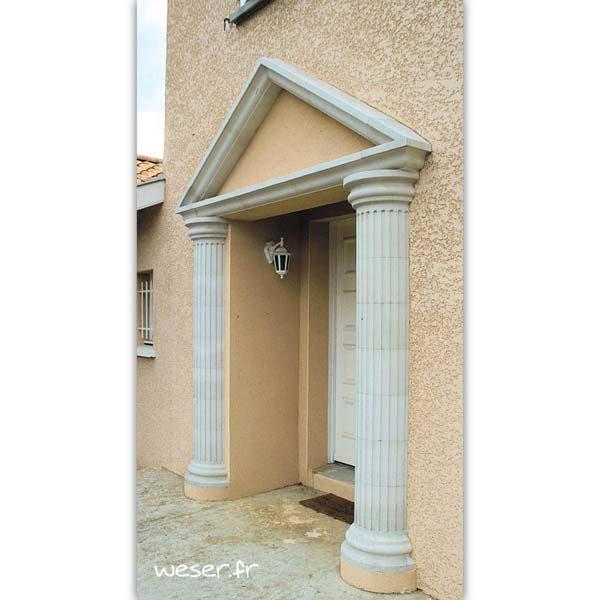 Demi-colonne Cannelée diamètre 26 cm Weser - en pierre reconstituée compactée - Coloris Blanc Cassé