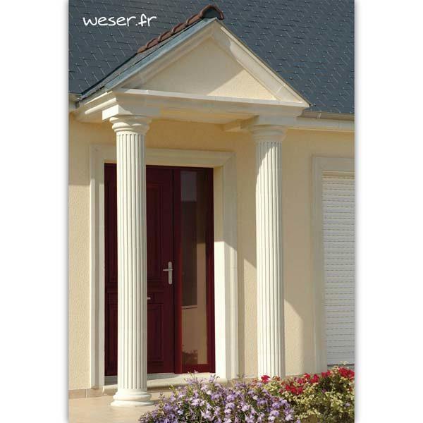 Colonne Cannelée diamètre 26 cm Weser - en pierre reconstituée compactée - Coloris Blanc Cassé