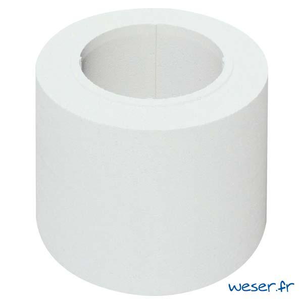 Fût pour colonne Lisse diamètre 35 cm Weser - en pierre reconstituée compactée - Coloris Blanc Cassé