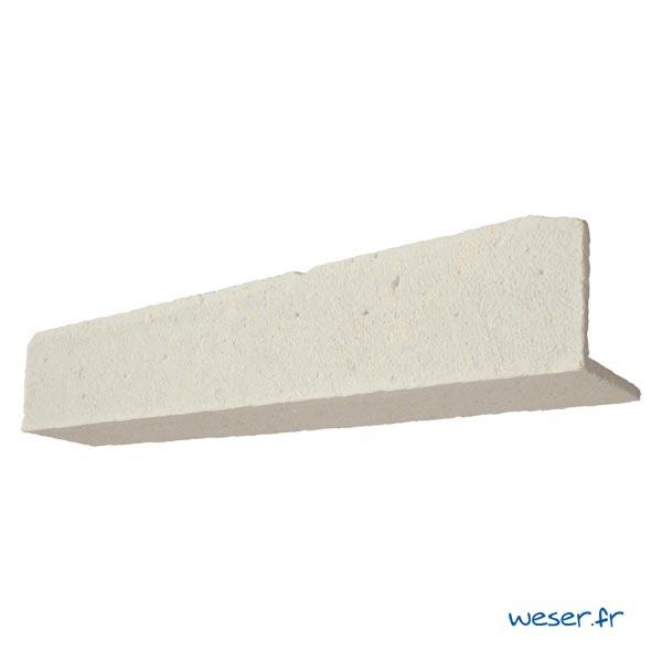 Linteau TRADITION pour habillage porte et fenêtre Weser - en pierre reconstituée coulée - Coloris Crème
